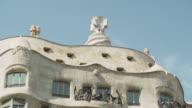 La Pedrera Casa Mila Barcelona, Gaudi building. Close up. Unesco world heritage building.