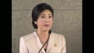 La primera ministra tailandesa Yingluck Shinawatra se nego este martes a ceder a la presion de los manifestantes que siguen pidiendo su dimision a...