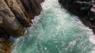 La Quebrada and the blue ocean