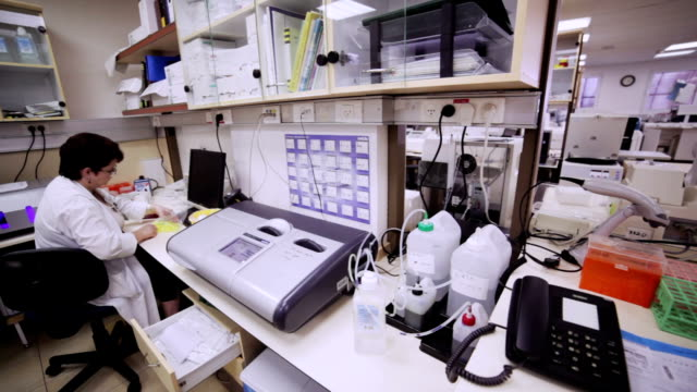 Laboratory assistant at work