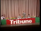 Day 4 ENGLAND Dorset Bournemouth Pavilion Theatre TMS Ken Livingstone GLC ldr speaking from platform at Tribune rally PULL OUT to Crick 'The platform...