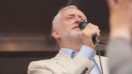 Labour Leader Jeremy Corbyn makes a speech to thousands of antiausterity protesters in Parliament Square Mr Corbyn slammed the 'hypocrisy' of Tory...