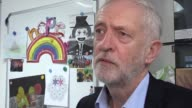 Labour leader Jeremy Corbyn visits the Hope Centre in Northampton where he met staff volunteers and service users at the homelessness centre PAonly...