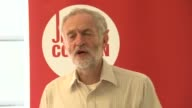 Jeremy Corbyn meeting and interview Corbyn speech SOT animal welfare / pollution / climate change / energy efficiency and power generation