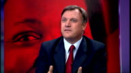 Live debate with candidates Ed Balls MP interview SOT People thought that David Cameron was going to win a majority but he didn't because of the...