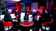 Live debate with candidates Quick fire questions On 50p tax David Miliband interview SOT Keep for this Parliament Ed Balls interview SOT Questions...