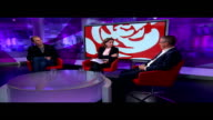 Jeremy Corbyn on course to become next leader following union endorsements ENGLAND London GIR INT Will Self LIVE STUDIO interview and John McTernan...