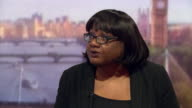 Labour MP Diane Abbott saying that she takes antisemitism seriously due to the large Jewish community in her constituency