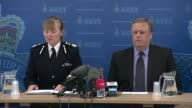 Labour MP Jo Cox dies after being shot and stabbed in street attack **FLASHLIGHT Chief Constable Dee Collins into press conference with colleague/...