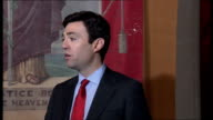 Andy Burnham joins leadership race ENGLAND Manchester The People's History Museum INT Andy Burnham MP speech SOT Today I am confirming that I am...
