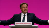 Ed Balls conference speech Ed Balls speech SOT And it's the same old Tory economics Cutting taxes at the top and hoping wealth will somehow trickle...