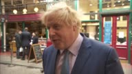 Boris Johnson interview ENGLAND London Leadenhall Market EXT Boris Johnson MP interview SOT Ken Livingstone should be removed from the Labour Party...