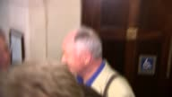 Ken Livingstone talks to press ENGLAND London Millbank PHOTOGRAPHY*** Ken Livingstone along through media scrum and talks to press SOT will not...