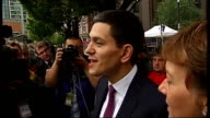 David Miliband and Ed Miliband arrivals ENGLAND Manchester Manchester Central EXT David Miliband MP along with his wife Louise Shackleton David...