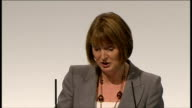 Harriet Harman speech / end of conference songs Harman speech SOT With the Tory/Lib Dem attack on The Future Jobs Fund On EMA On tuition fees The...