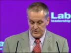 Declaration of Deputy Leadership results / Harriet Harman Gordon Brown and Tony Blair speeches Mike Griffiths speech SOT Reads results of first round...