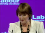 Declaration of Deputy Leadership results / Harriet Harman Gordon Brown and Tony Blair speeches Harriet Harman MP speech SOT On Labour parties...