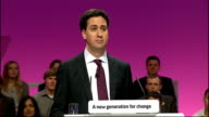Ed Miliband's first speech as new Labour leader **** WARNING Ed Miliband speech SOT We need responsibility at the top of society too the gap between...