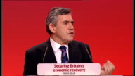 Gordon Brown keynote speech Gordon Brown speech continued SOT Because there is a difference between the parties/ It's the difference between...