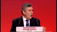 Gordon Brown keynote speech Gordon Brown speech continued SOT if you've changed one life you've changed the world/ And because we know that our...