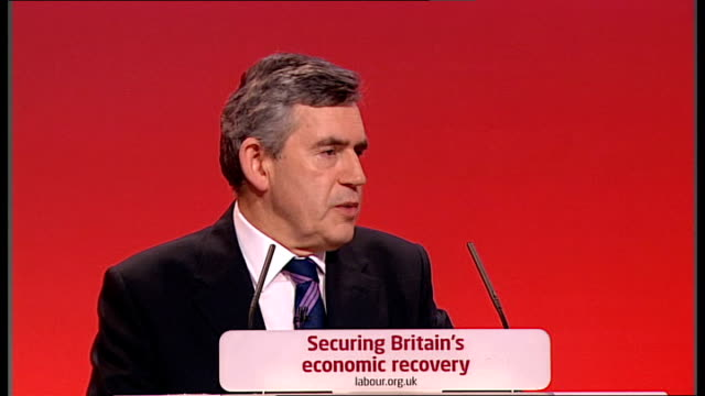 Gordon Brown keynote speech Gordon Brown conference speech continued SOT And conference let me say Britain will work with President Obama and 40...