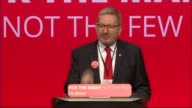 John McDonnell promises to nationalise Private Finance Initiative projects West Sussex Brighton INT Len McCluskey speech SOT So cowards flinch and...