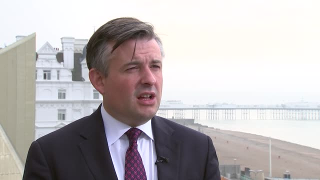 Jon Ashworth interview ENGLAND West Sussex Brighton EXT Jon Ashworth MP interview SOT
