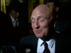 Ken Livingston ENGLAND Brighton Neil Kinnock chats Roy Hattersley on platform stands and walks off Ken Livingstone seated counting votes John...