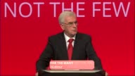 McDonnell promises to nationalise Private Finance Initiative projects McDonnell to podium Labour Party Leader Jeremy Corbyn MP applauding John...