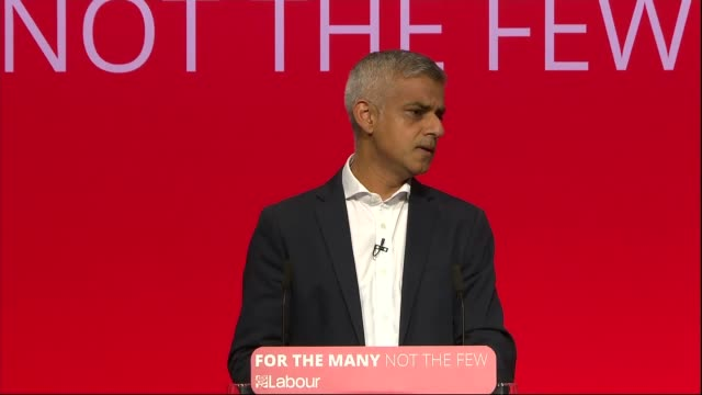 Sadiq Khan speech ENGLAND West Sussex Brighton INT Sadiq Khan speech SOT re general election and new Labour MPs in London security and terrorist...