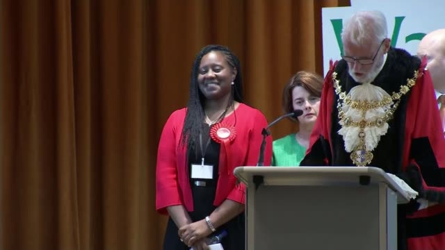 Three London MPs attend for first time since being elected R090617049 / 962017 London Marsha De Cordova MP being elected in Battersea constituency SOT