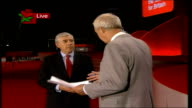 Tony Blair's farewell speech ENGLAND Manchester Jack Straw LIVE STUDIO interview SOT Thought end of speech astonishingly emotional / Tony expressed...