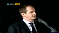 Tony Blair's farewell speech LOGO ENGLAND Manchester INT Alastair Campbell LIVE interview SOT Discusses Tony Blair's resignation timing and when it...