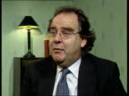 Donation ITN INT Lord Falconer interview SOT Lord Hamlyn has volunteered the information that he is the donor we are the government that required the...
