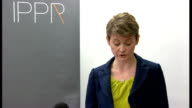 Yvette Cooper speech Yvette Cooper speech continued SOT Ed Miliband has already called for action against agencies that use only foreign workers and...