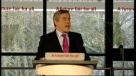Gordon Brown speech Gordon Brown MP speech SOT I am privileged to work with brilliant deputy leader and champion of equality as Harriet Harman the...
