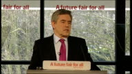 Gordon Brown speech Gordon Brown speech SOT And we are fighting for a future where for the first time every single young person of this generation...