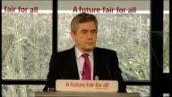 Gordon Brown speech Gordon Brown speech SOT And so my message to the people of Britain today is simple I know that Labour hasn't done everything...