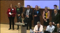 Labour's Emma Dent Coad receiving applause after victory in the Kensington constituency