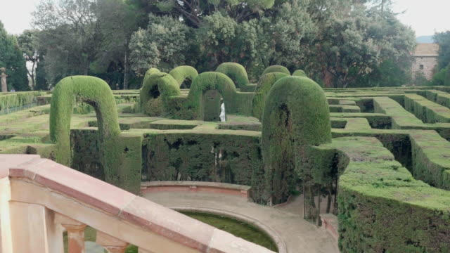 Labyrinth park in Horta district in Barcelona