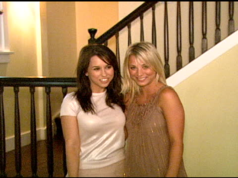 Lacey Chabert and Kaley Cuoco at the 'French Connection' Celebrity Styling Launch at Chateau Marmont in West Hollywood California on June 22 2006