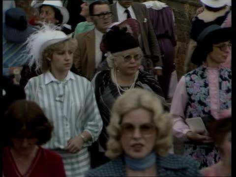 Ladies Day at Royal Ascot Women leaving Tictac man gesturing CAS ex ENG 149mins TX