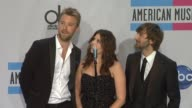 Lady Antebellum on listening to hiphop on what Hillary Scott is wearing on who inspires her on her upcoming wedding plans on the current state of the...