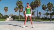 MS Lady exercising for fitness / San Pedro Alcantara, Malaga, Spain
