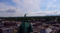 Lady Justice on top Harrisonburg Courthouse