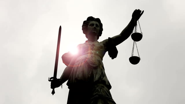 Lady Justice with sunlight