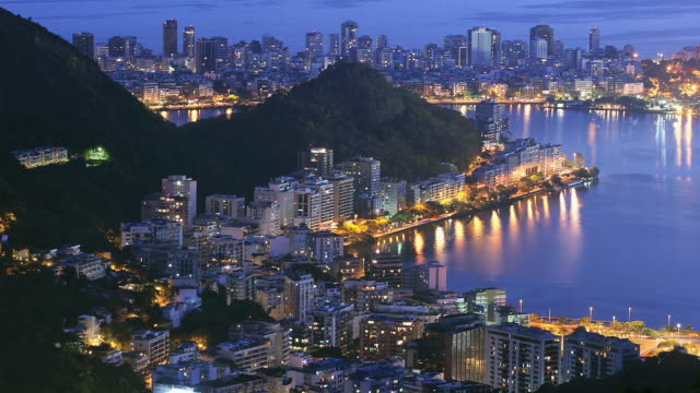 T/L, WS, HA, Lagoa Rodrigo de Freitas, day to night, Rio de Janeiro, Brazil