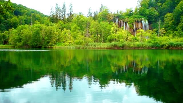 Lake and waterfall