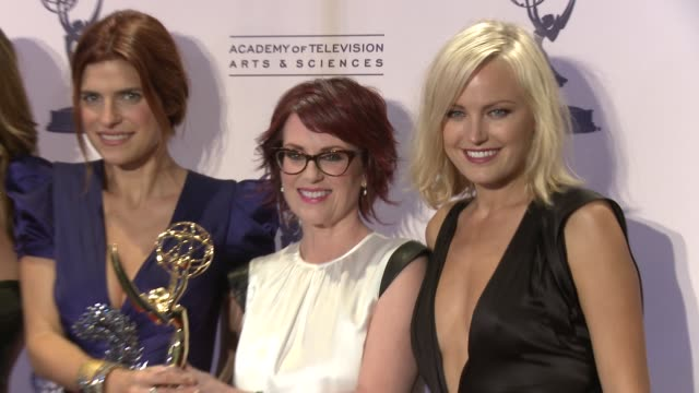 Lake Bell Megan Mullally Malin Akerman at 2012 Creative Arts Emmy Awards Press Room on 9/15/2012 in Los Angeles CA