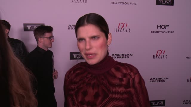 INTERVIEW Lake Bell on what brings her out what being fashionable/stylish means to her and who her style icons are at the Harper's BAZAAR Celebrates...